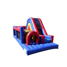 Commercial Grade Rainbow Xtreme Inflatable Obstacle Course Bounce House