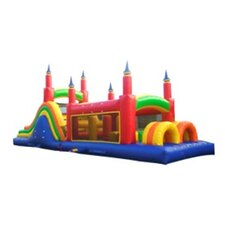 Rainbow Commercial Grade Mega Inflatable Obstacle Course