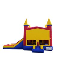 Rainbow Xtreme Wet/Dry Commercial Grade Inflatable Bouncy House and Slide Combo
