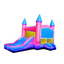 <strong>JumpOrange</strong> Princess Xtreme Wet/Dry Commercial Grade Inflatable Bouncy House and Slide Combo