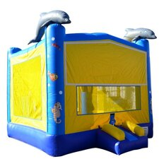 Dolphin Commercial Grade Inflatable Bouncy Castle