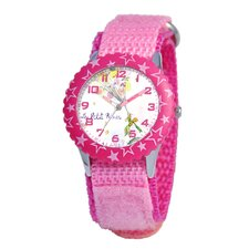 Kid's Time Teacher Stars Bezel Velcro Strap Watch