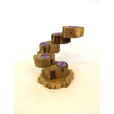 Wood Five Tier Tealight Holder