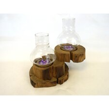Wood Two Tier Tealight Holder