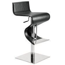Portland Adjustable Bar Stool in Black