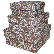 <strong>Sustainable Threads</strong> Spiral Nesting Boxes (Set of 3)