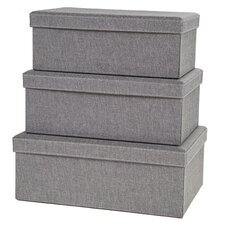 Gray Birch Storage Box (Set of 3)