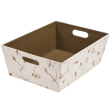 Suede Leaf Fabric Storage Bin