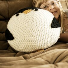 Crochet Acrylic Penguin Pillow