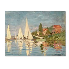 """Regatta at Argenteuil"" Canvas Art"