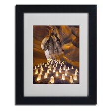 'Candle Canyon I' Matted Framed Art by Moises Levy