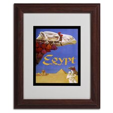 Vintage Apple 'Egypt Camel' Matted Framed Art