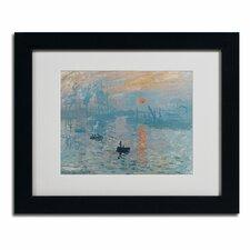 Claude Monet 'Impression Sunrise' Matted Framed Art