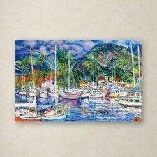 Manor Shadian 'Lahaina Marina' Canvas Art