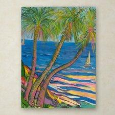 Manor Shadian 'Three Coconut Palms' Canvas Art
