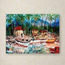Manor Shadian 'Lahaina Boats' Canvas Art