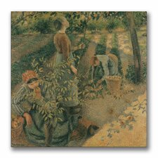 """""""The Apple Pickers"""" by Camille Pissarro Painting Print on Canvas"""