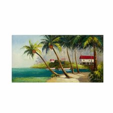 'Caribean Bay' by Victor Giton Painting Print on Canvas