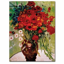 'Dasies & Poppies' by Vincent van Gogh Painting Print on Canvas