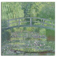 'The Waterylily Pond, 1899' by Claude Monet Painting Print on Canvas