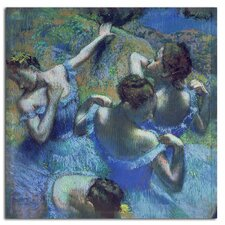 'Blue Dancers 1899' by Edgar Degas Painting Print on Canvas