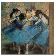 'Dancers in Blue, 1890' by Edgar Degas Canvas Rolled Art