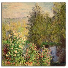 'Corner of the Garden at Montgeron, 1876' by Claude Monet Canvas Rolled Art