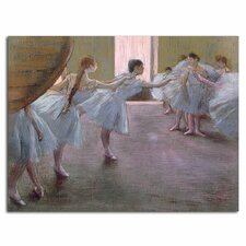 'Dancers at Rehearsal, 1875-77' by Edgar Degas Painting Print on Canvas