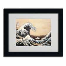 'The Great Wave' by Katsushika Hokusai Matted Framed Painting Print