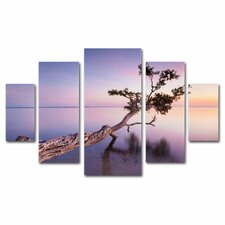 'Water Tree XV' by Moises Levy 5 Piece Panel Art Set
