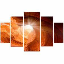 'Smooth II' by Moises Levy 5 Piece Panel Art Set