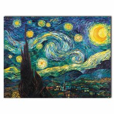 'Starry Night' by Vincent van Gogh Painting Print on Canvas