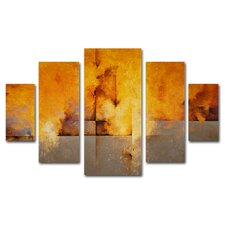 """Lost Passage"" by Cody Hooper Painting Print 5 Panel Art Set"