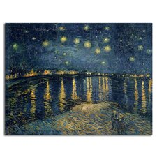 'The Starry Night II' by Vincent Van Gogh Painting Print on Canvas