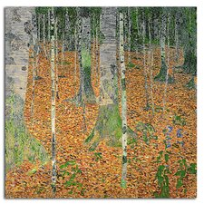 'The Birch Wood' by Gustav Klimt Painting Print on Canvas Rolled Art