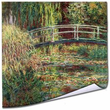 'Waterlily Pond Pink Harmony,1900' by Claude Monet Painting Print on Canvas