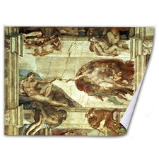 'The Creation of Adam' by Michelangelo Painting Print on Canvas