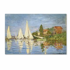 """""""Regatta at Argenteuil"""" by Claude Monet Painting Print on Canvas"""