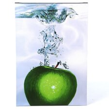 """Apple Splash II"" by Roderick Stevens Painting Print on Wrapped Canvas"