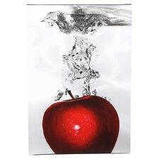 'Red Apple Splash' by Roderick Stevens Photographic Print on Canvas