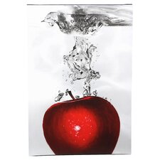 Red Apple Splash by Roderick Stevens Painting Print Art on Canvas