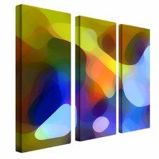 """Dappled Light and Shade"" by Amy Vangsgard Painting Print 3 Panel Art Set"
