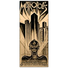 "<strong>Trademark Fine Art</strong> Metropolis by Schuluz Nendamm, Traditional Framed Canvas Art - 32"" x 18"""