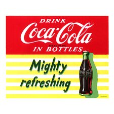 <strong>Trademark Fine Art</strong> Coca Cola Mighty Refreshing Stretched Canvas Print