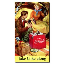 <strong>Trademark Fine Art</strong> Coca Cola Take Coke Along Stretched Canvas Art