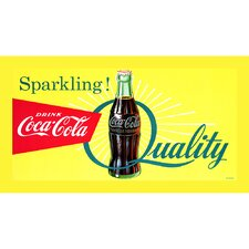 Coke Sparkling Quality - 18x36 Inch Stretched Canvas Print