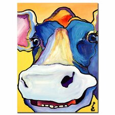 """Dairy Queen"" by Pat Saunders-White Painting Print on Canvas"