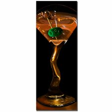"<strong>Trademark Fine Art</strong> Goldtini by Roderick Stevens, Canvas Art - 32"" x 12"""