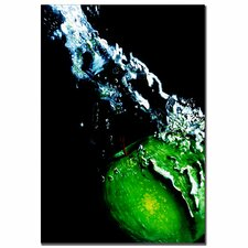 "<strong>Trademark Fine Art</strong> Apple Splash by Roderick Stevens, Canvas Art - 32"" x 22"""