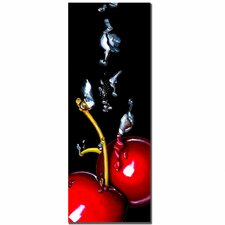 "<strong>Trademark Fine Art</strong> Cherry Splash by Roderick Stevens, Canvas Art - 32"" x 22"""